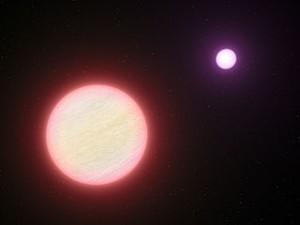 Impresión artística que muestra el par de enanas marrones conocido como CFBDSIR 1458+10.