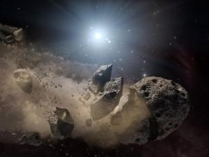 Fragmentación de asteroide
