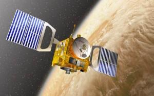 Ilustración artística de la sonda Venus Express. Crédito: D. Ducros/ESA.