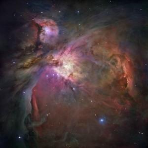 Vista panorámica de la Nebulosa de Orión. Crédito: NASA,ESA, M. Robberto (STScI/ESA).