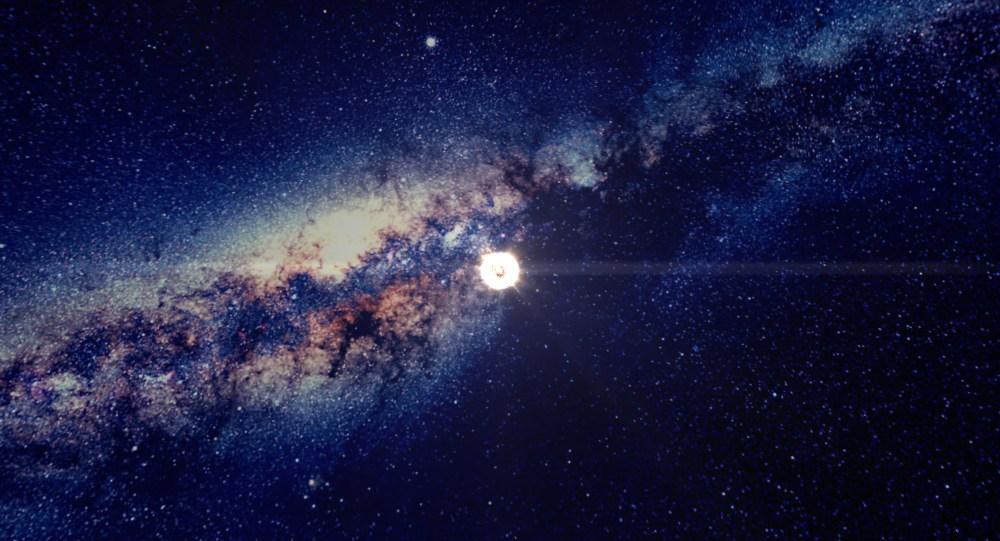 "El Sol en ""100.000 Estrellas"". Crédito: Chrome Experiment."