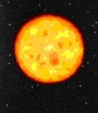 Representación artística de una de las estrellas más antiguas que se conocen, las que datan de al menos 13.2 mil millones de años. Crédito: ESO.