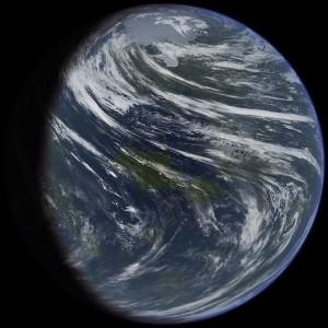 Ilustración artística de Venus terraformado. Crédito: Daein Ballard.