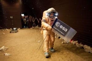 Caminata marciana simulada