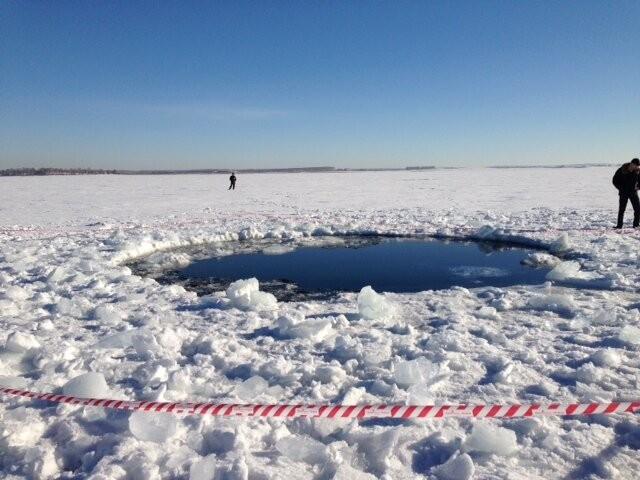 Cráter de meteorito en Rusia
