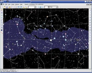 Galactic coordinates chart