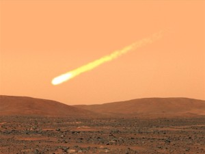 Cometa en Marte