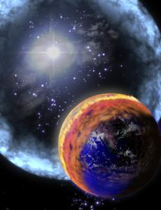 Explosión rayos gamma y Tierra