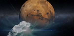 Cometa C/2013 A1 y Marte