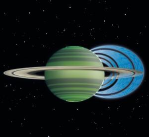 Partículas de agua cargadas llueven en Saturno