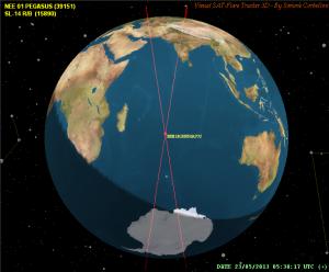 Colisión satélite Pegaso
