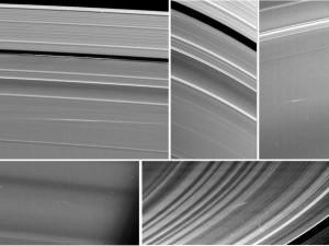 Meteoros en los anillos de Saturno