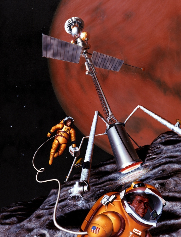 Misión tripulada Fobos 1985