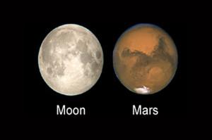 Mito Luna y Marte