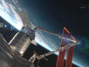 Cygnus capturada por Canadarm2