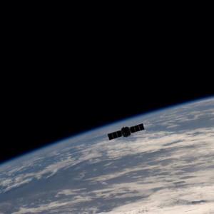 Cygnus dejando la estación espacial