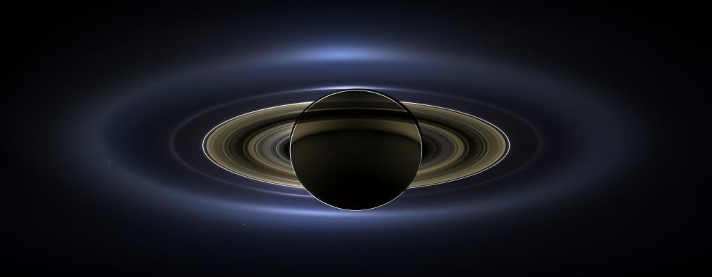 Saturno y la Tierra