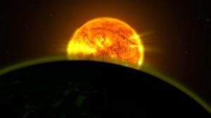Firma de agua en exoplaneta