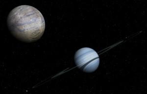 Lunas de exoplaneta HR 8799 d