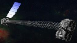 Concepción artística del NuSTAR en órbita. Crédito: NASA/JPL-Caltech