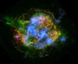 La misión NuSTAR de la NASA revela nuevos descubrimientos sobre la mecánica que hay detrás de la explosión de la supernova Cassiopea A. Crédito: NASA/JPL-Caltech/CXC/SAO