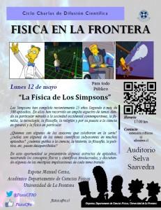 """Afiche """"La Física de los Simpsons"""""""