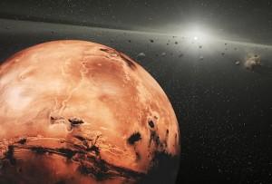 Marte y asteroides