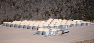 HAWC, High Altitude Water Cherenkov, es un observatorio de rayos gamma (γ) de gran apertura capaz de monitorear el cielo en el rango de energías de 100 GeV a 100 TeV.