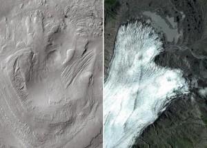 Monte Aeolis y glaciar terrestre