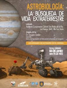 """Charla """"Astrobiología: la búsqueda de vida extraterrestre"""""""