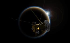 Cassini observa puesta de sol en Titán