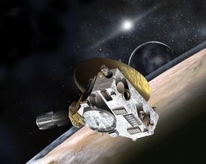 Concepción artística de la nave espacial New Horizons. Cualquier persona en la Tierra que quiera participar puede ayudar a determinar el mensaje que será transportado por la nave espacial New Horizons.  Fotografía por JHUAPL / Southwest Research Institute