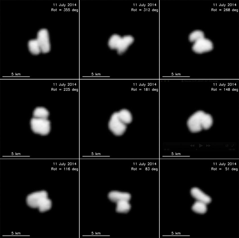 Crédito: ESA / Rosetta / MPS for OSIRIS Team MPS / UPD / LAM / IAA / SSO / INTA / UPM / DASP / IDA