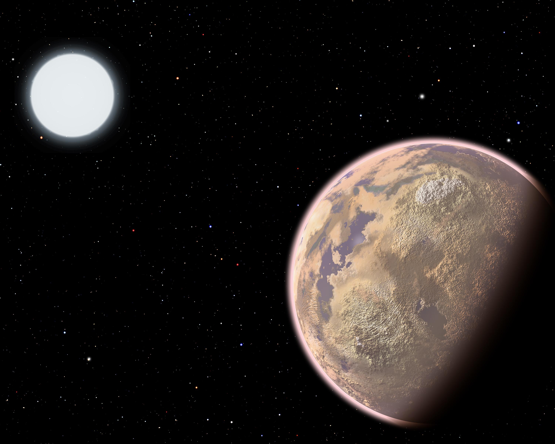 Planeta orbitando una estrella enana blanca
