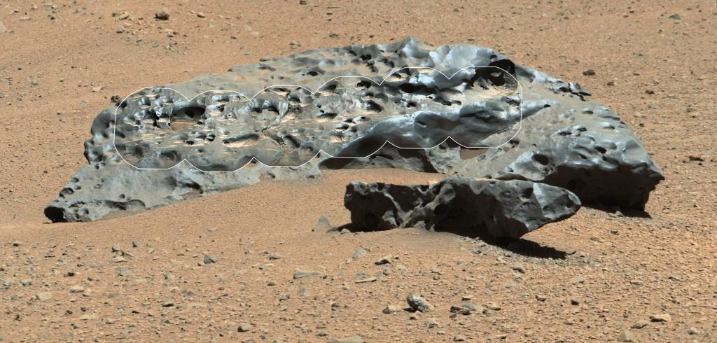Meteorito de hierro en Marte