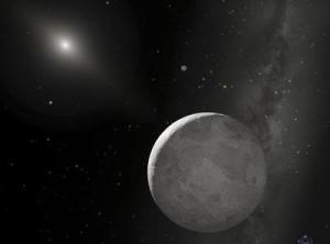 """Representación artística de Plutón, el mundo que pasó de ser un planeta de pleno derecho a ser un """"planeta enano"""", y que ahora exhibe rasgos, comportamientos y características propios de una cometa."""