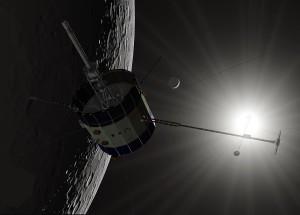 ISEE-3 sobrevolando la Luna