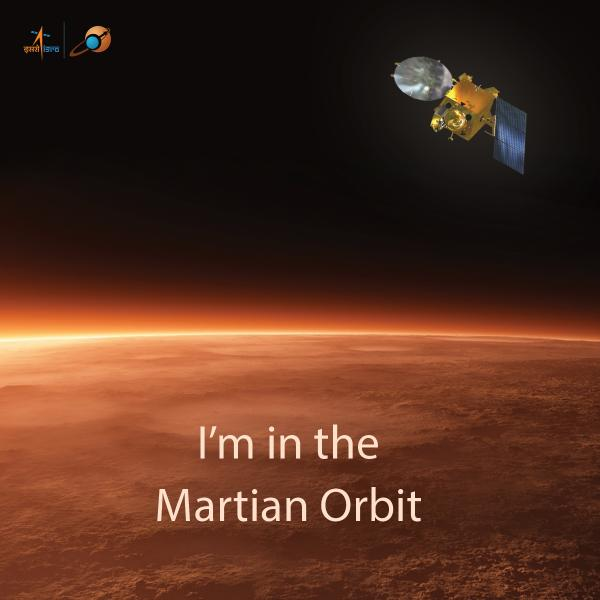 MOM en órbita