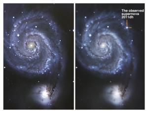 Supernova en galaxia M51 (SN 2011dh)