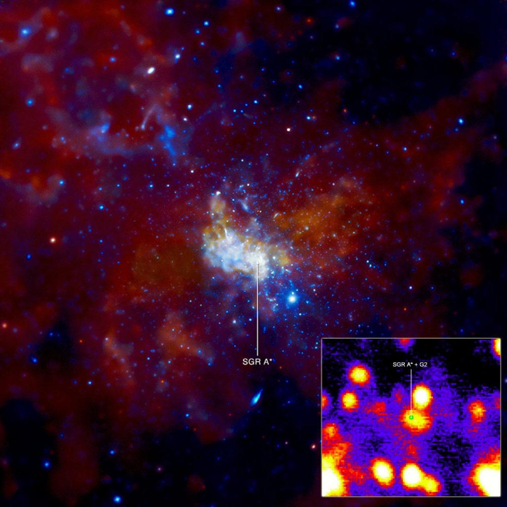Crédito: NASA / CXC / MIT / F.K. Baganoff et al. / E. Slawik / G. Witzel et al.
