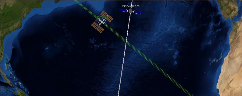 Cruce entre satélites