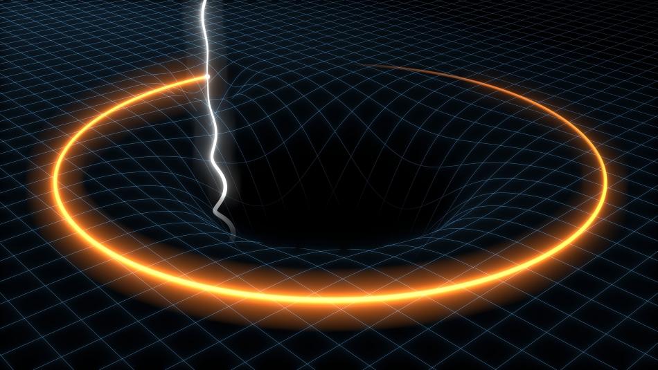 Púlsar y agujero negro