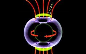 Origen magnetosférico de rayos gamma en torno a agujero negro