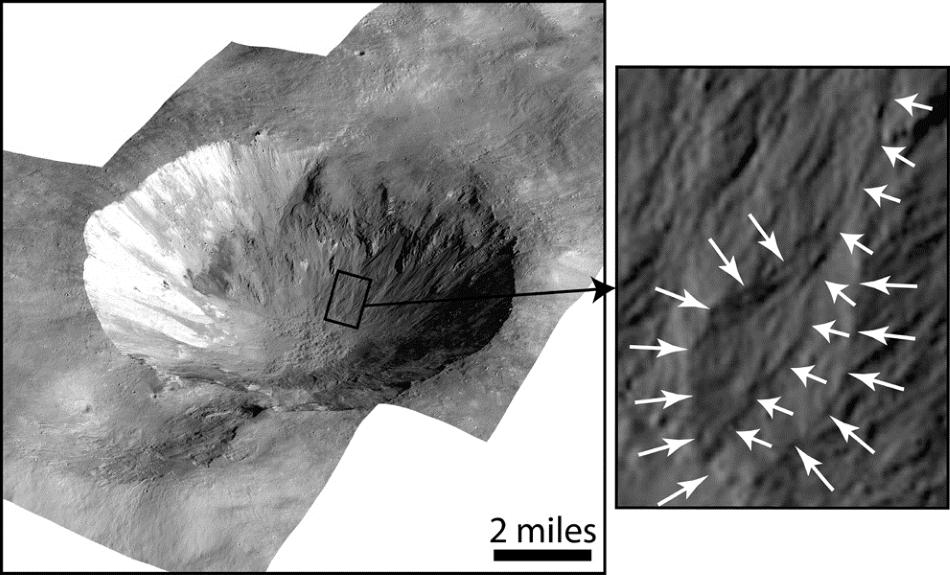 Cráter Cornelia, Vesta