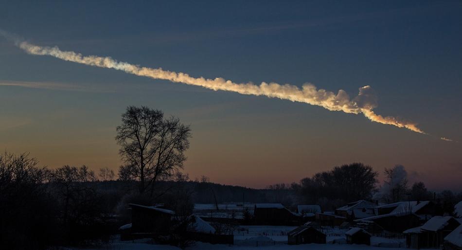 Explosión sobre Cheliábinsk