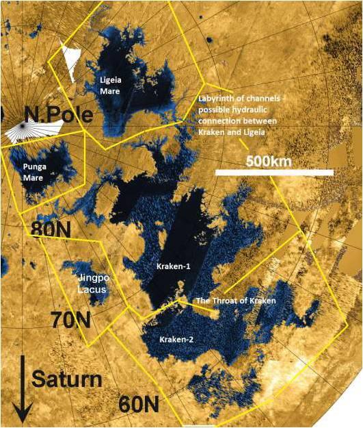 Los lugares que podría navegar el submarino.  Crédito: Ralph Lorenz/APL