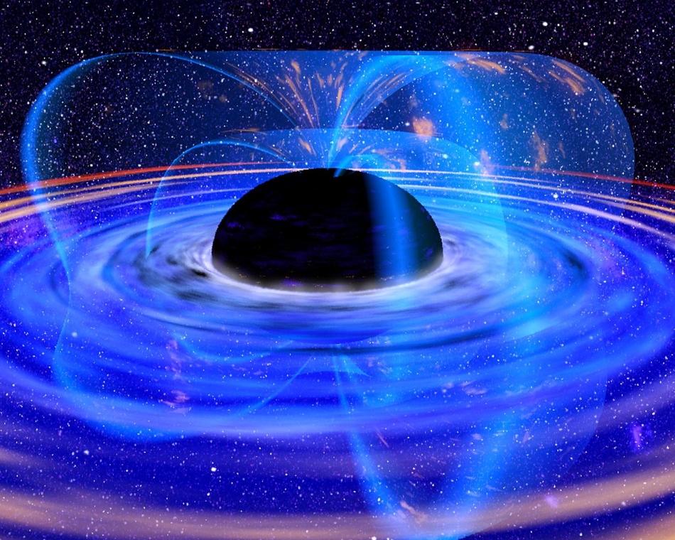 Agujero negro y disco de acreción