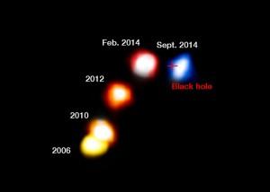 Acercamiento de G2 al agujero negro