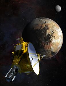 New Horizons aproximándose a Plutón