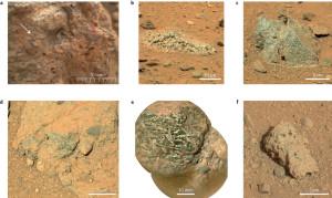 Texturas rocosas en Marte